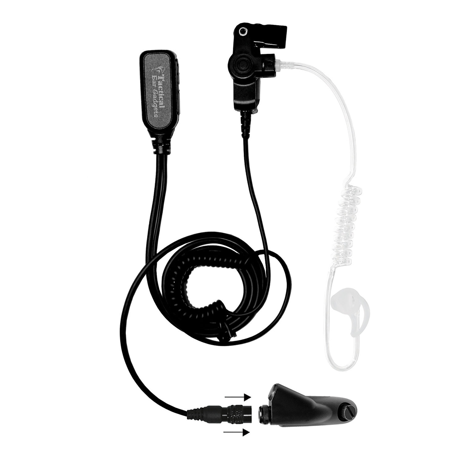 Ear Phone Connection Hawk Lapel Microphone