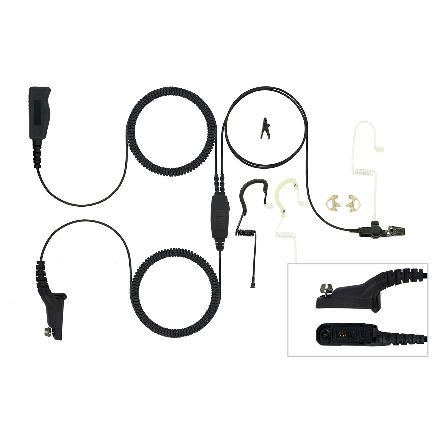 EarHugger T-Series Three-Wire Kit for Motorola Turbo/APX/XPR
