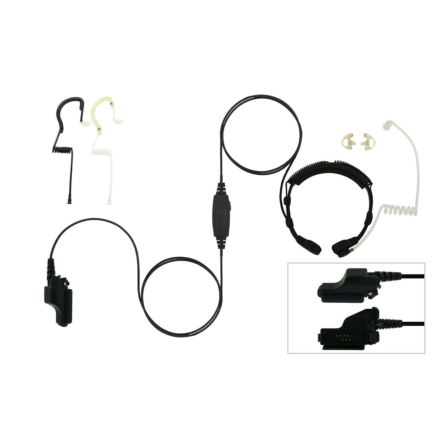 EarHugger Throat Microphone for Motorola HT/MTS/XTS