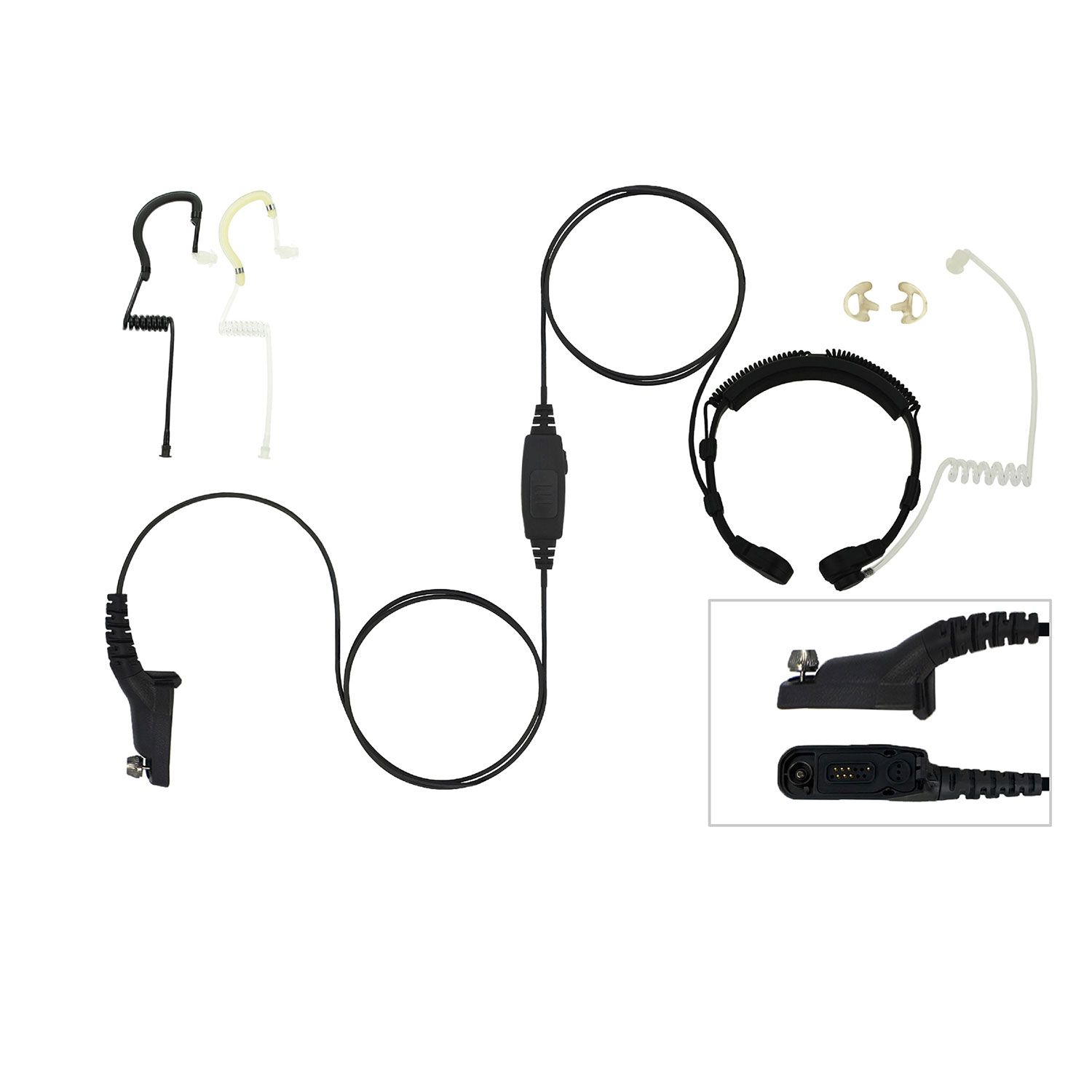 EarHugger Throat Microphone for Motorola Turbo/APX/XPR