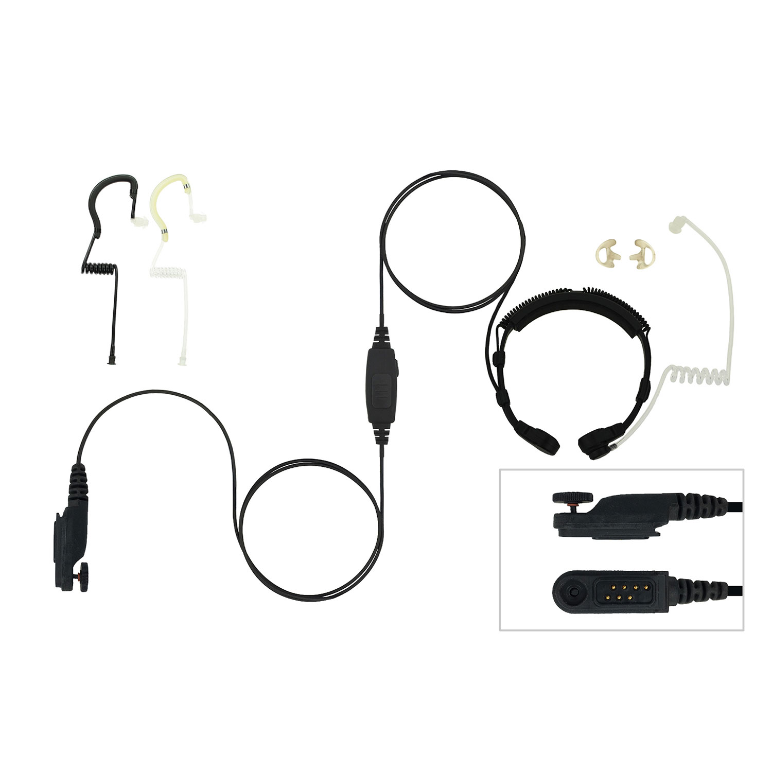 EarHugger Throat Microphone for Harris XG-100P, XL-200P