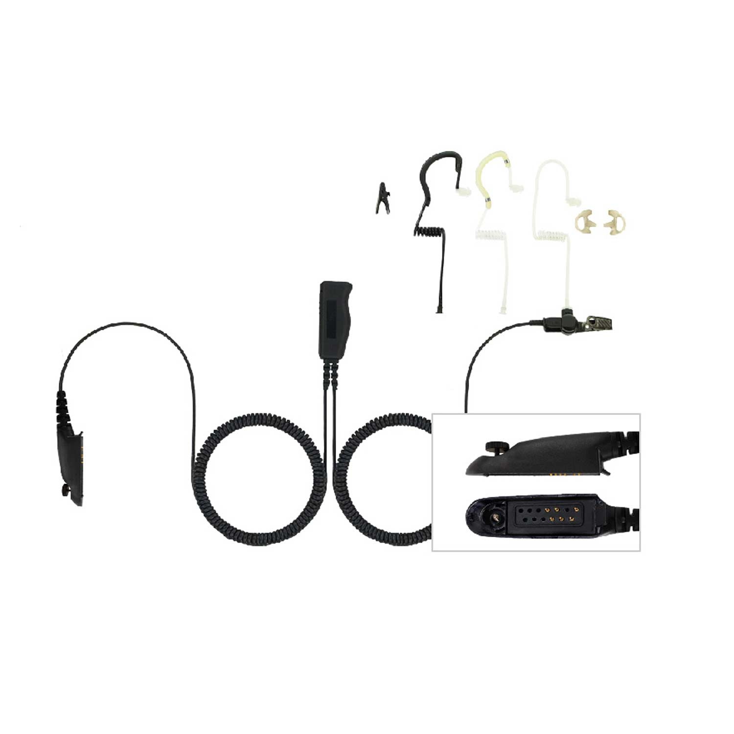 Ear Hugger 2 Wire Kit for Motorola HT750/1250/GP/MTX