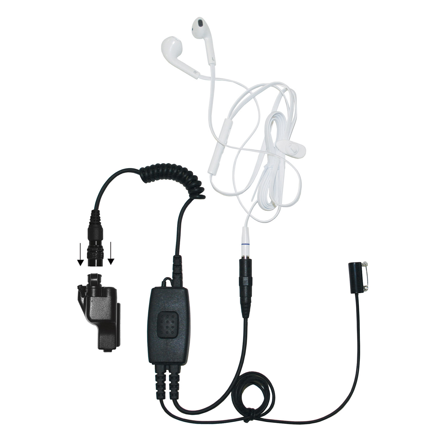 Ear Phone Connection Snake Covert Surveillance Kit