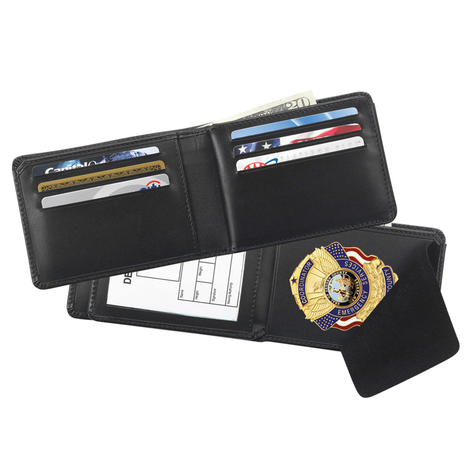 Galls Classic-Style Bi-Fold Badge Wallet
