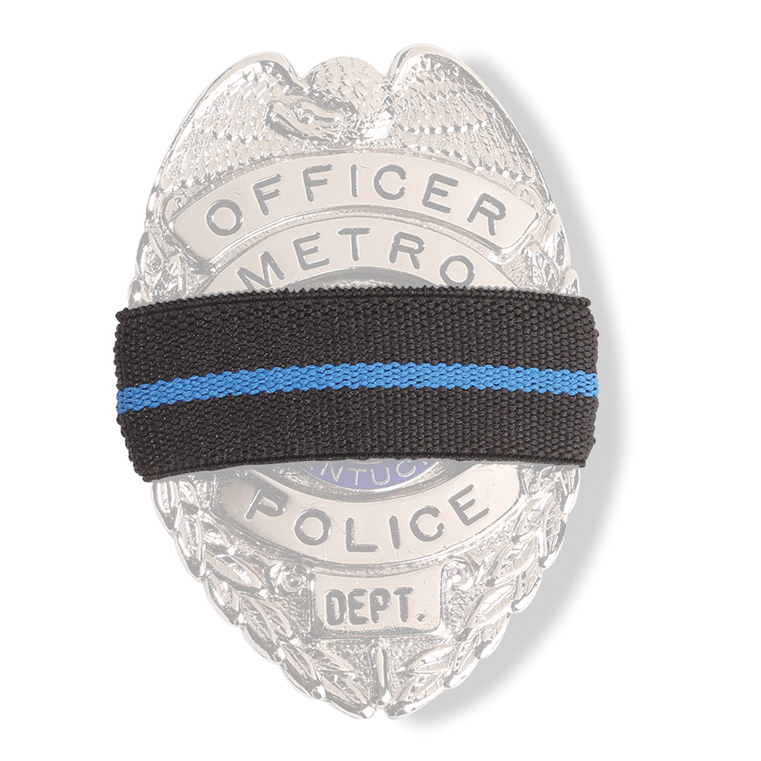 Blue Line Memorial Badge Ribbon