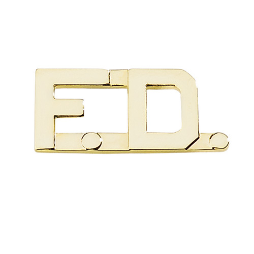 Blackinton Fire Department F.D. Collar Brass