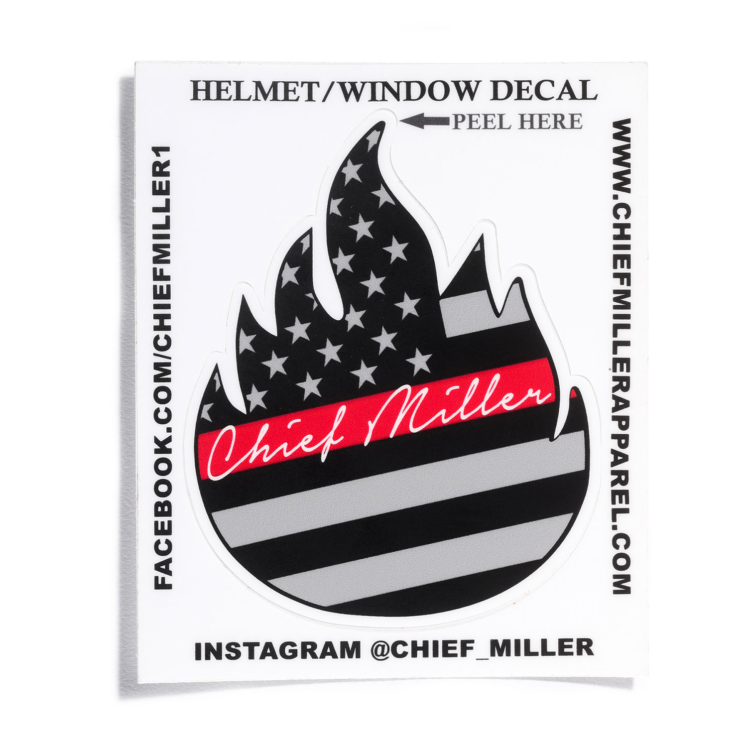 Chief Miller Helmet/Window Decal