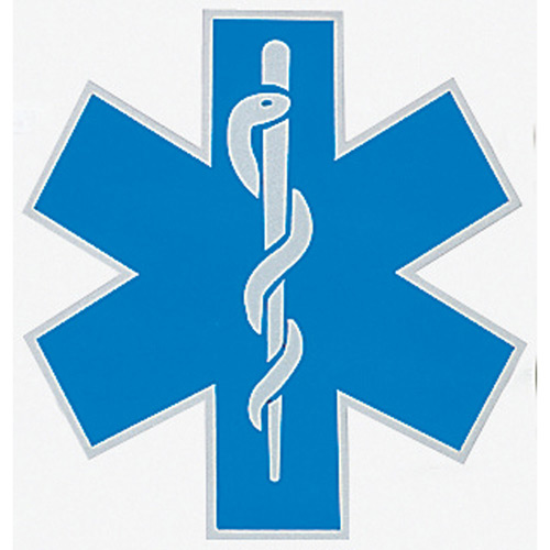 VISCO Reflective Star of Life Vehicle Decal