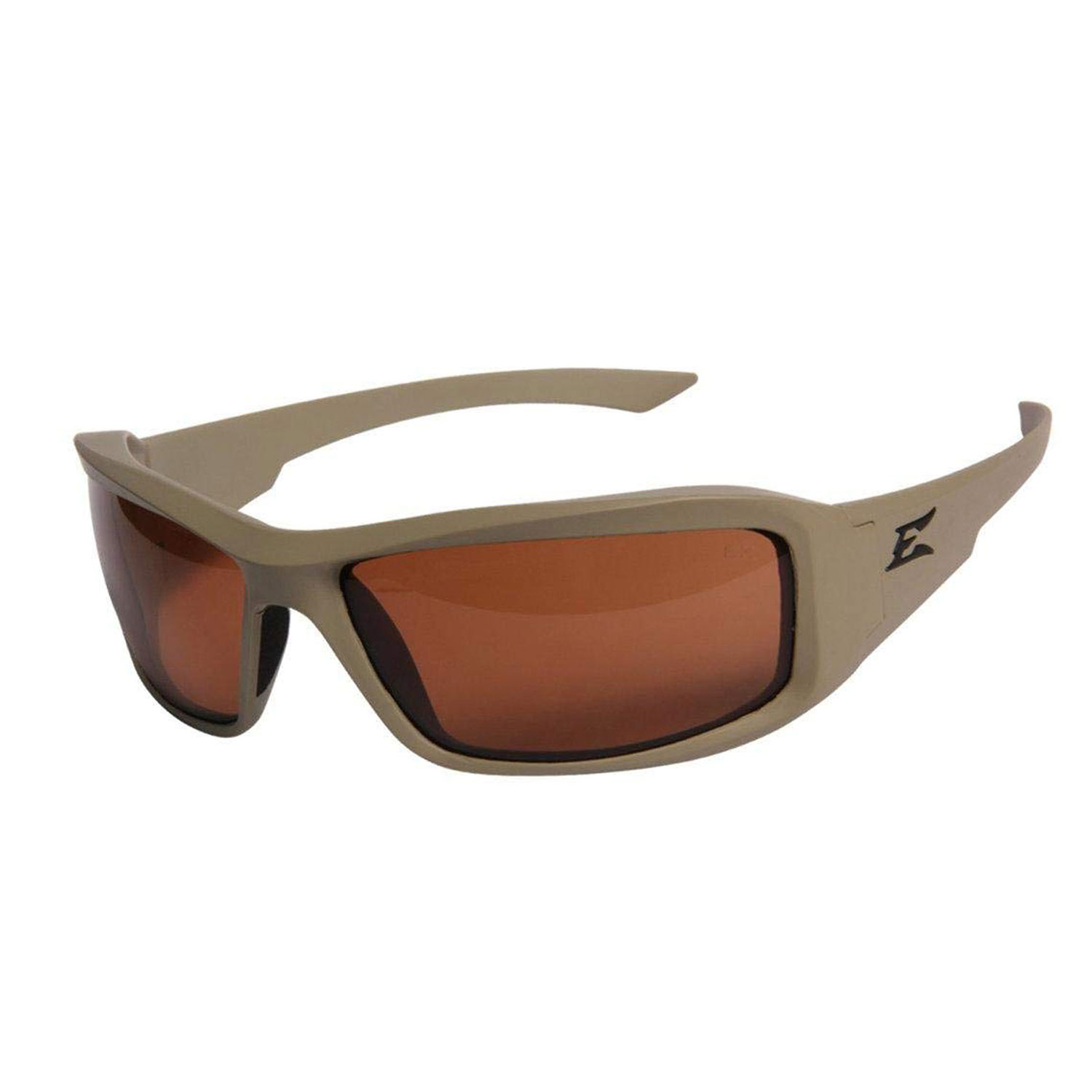 Edge Eyewear Hamel Sand Thin Temple Polarized Safety Glasses