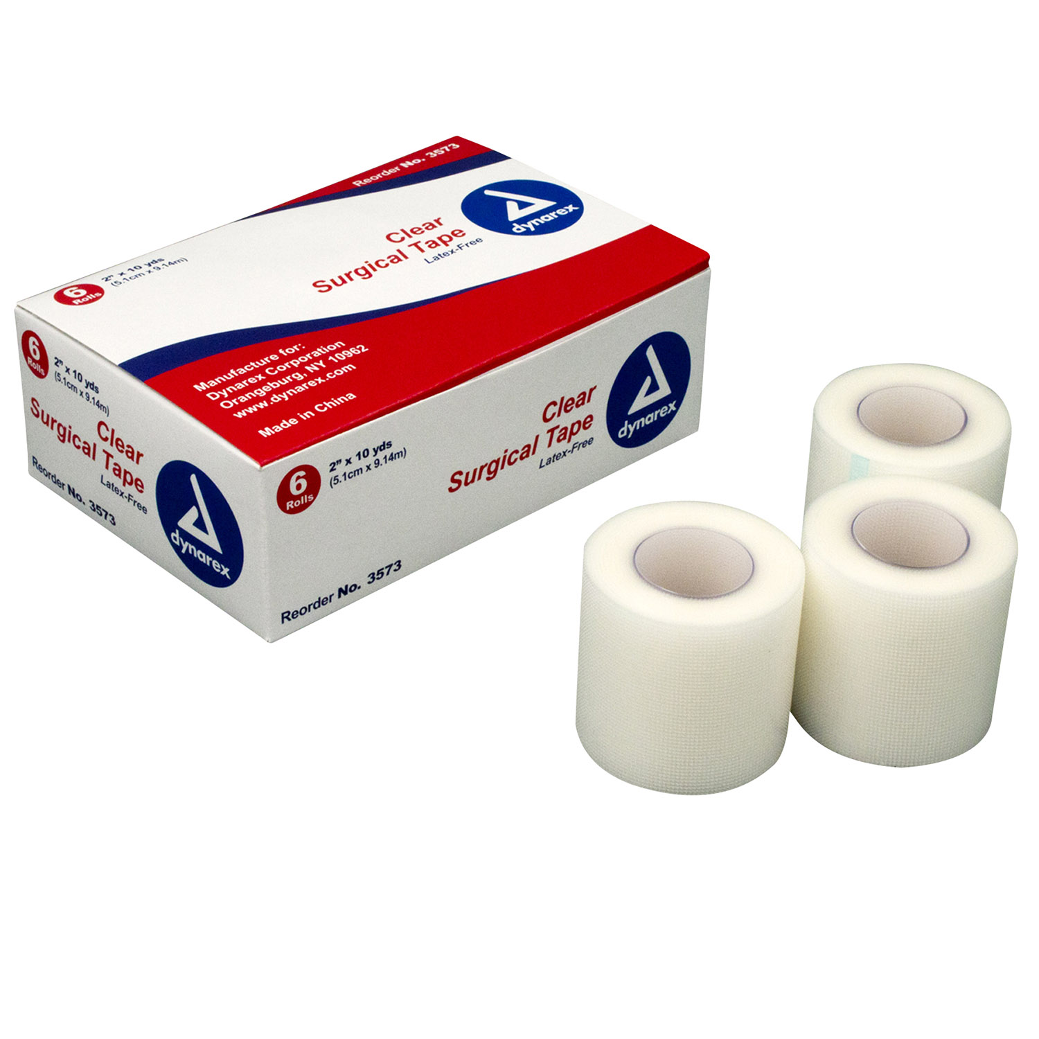 "Dynarex 2"" Transparent Surgical Tape (6 Pack)"
