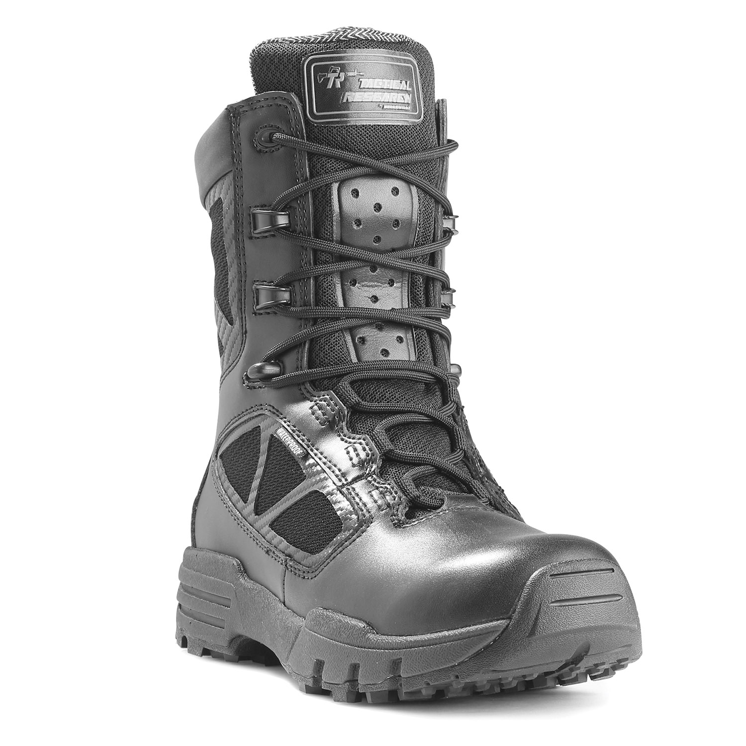 "Tactical Research 8"" Chrome Side Zip Waterproof Boot