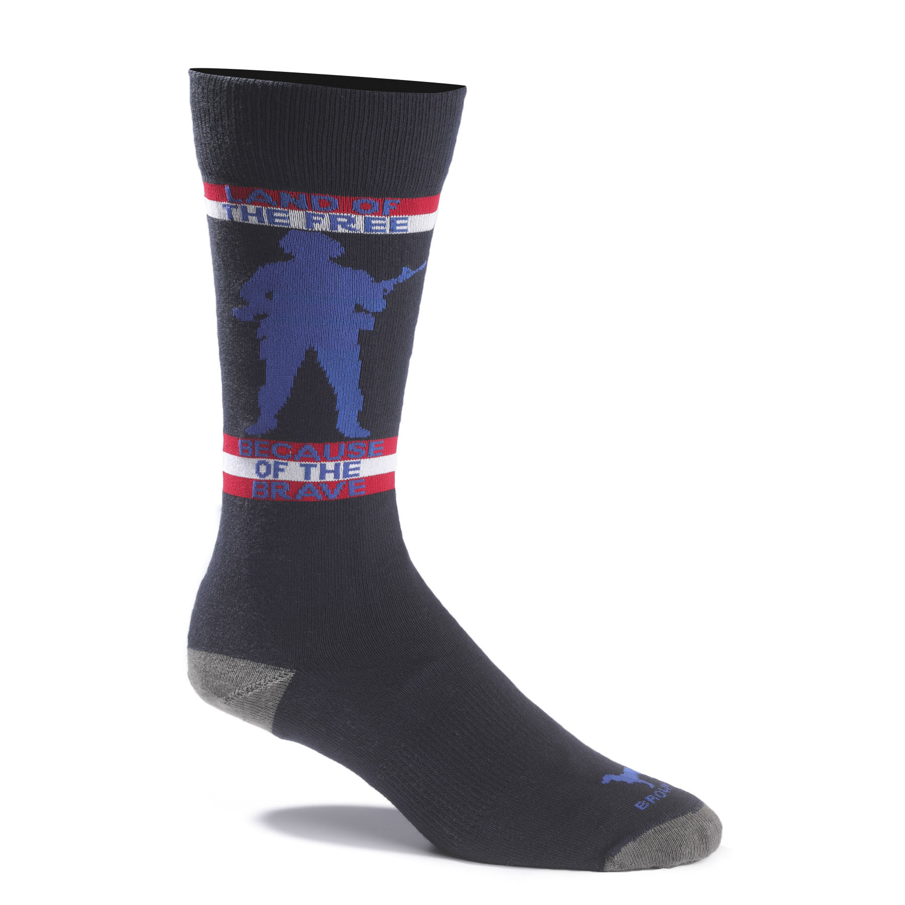 "Brown Dog ""Land of the Free"" Sock"