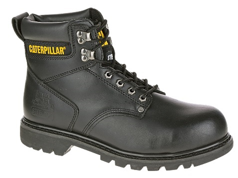 "Caterpillar Men's 6"" Black Second Shift Steel Toe Boot"