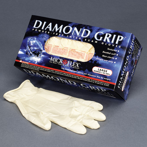 Microflex Medical Co Diamond Grip Latex Medical Gloves (100