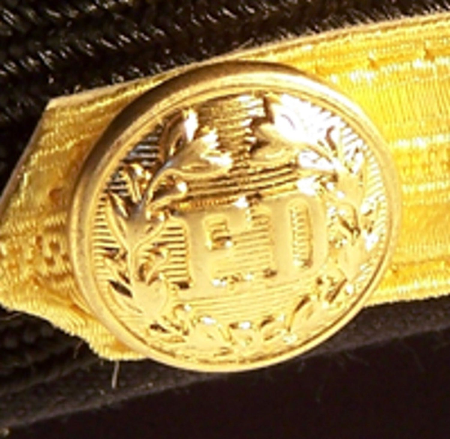 Midway Gold Embossed FD Button for Cap