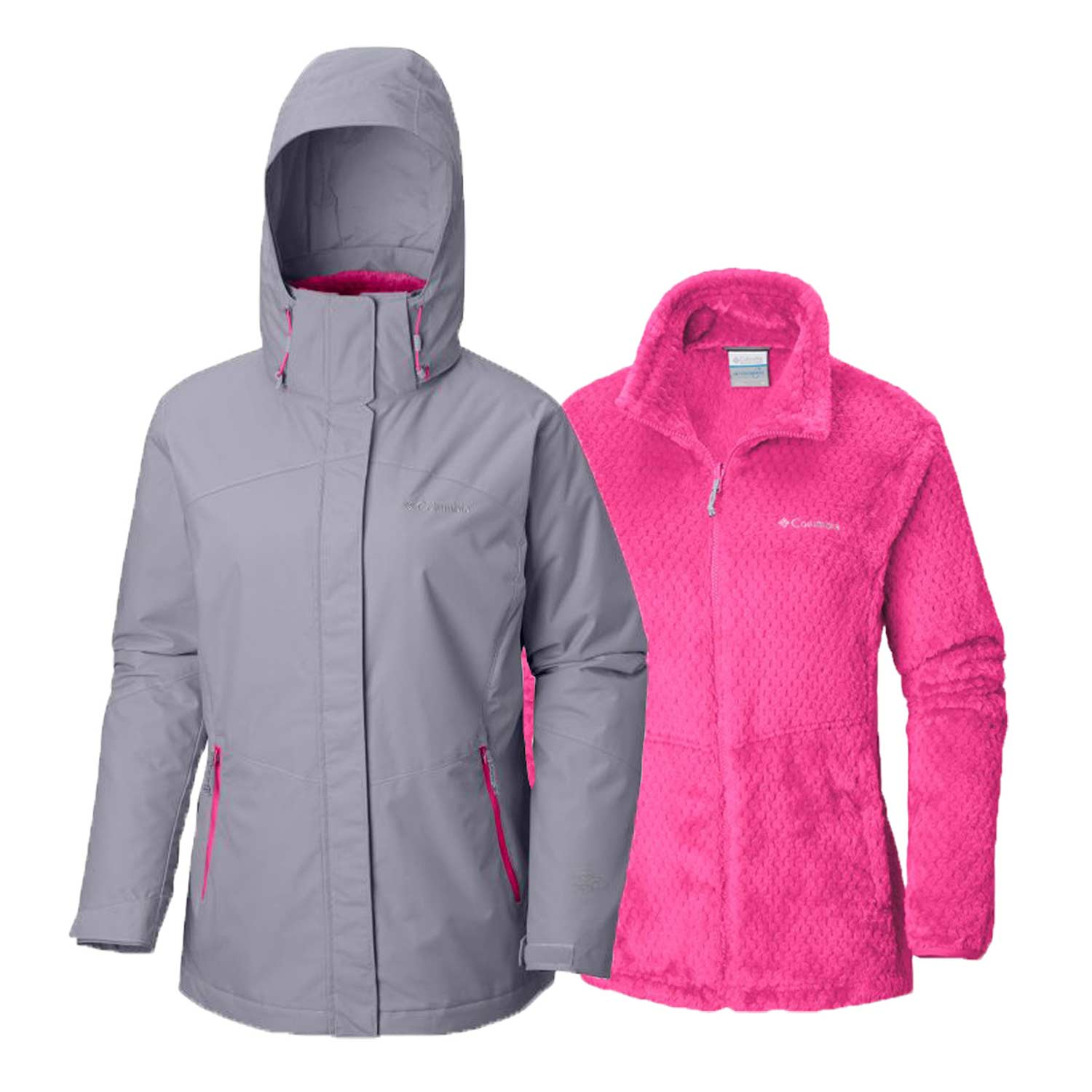 Columbia Womens Bugaboo II Fleece Interchange Jacket