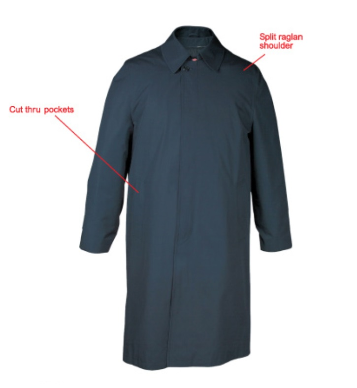 Anchor Uniform Single Breasted Overcoat