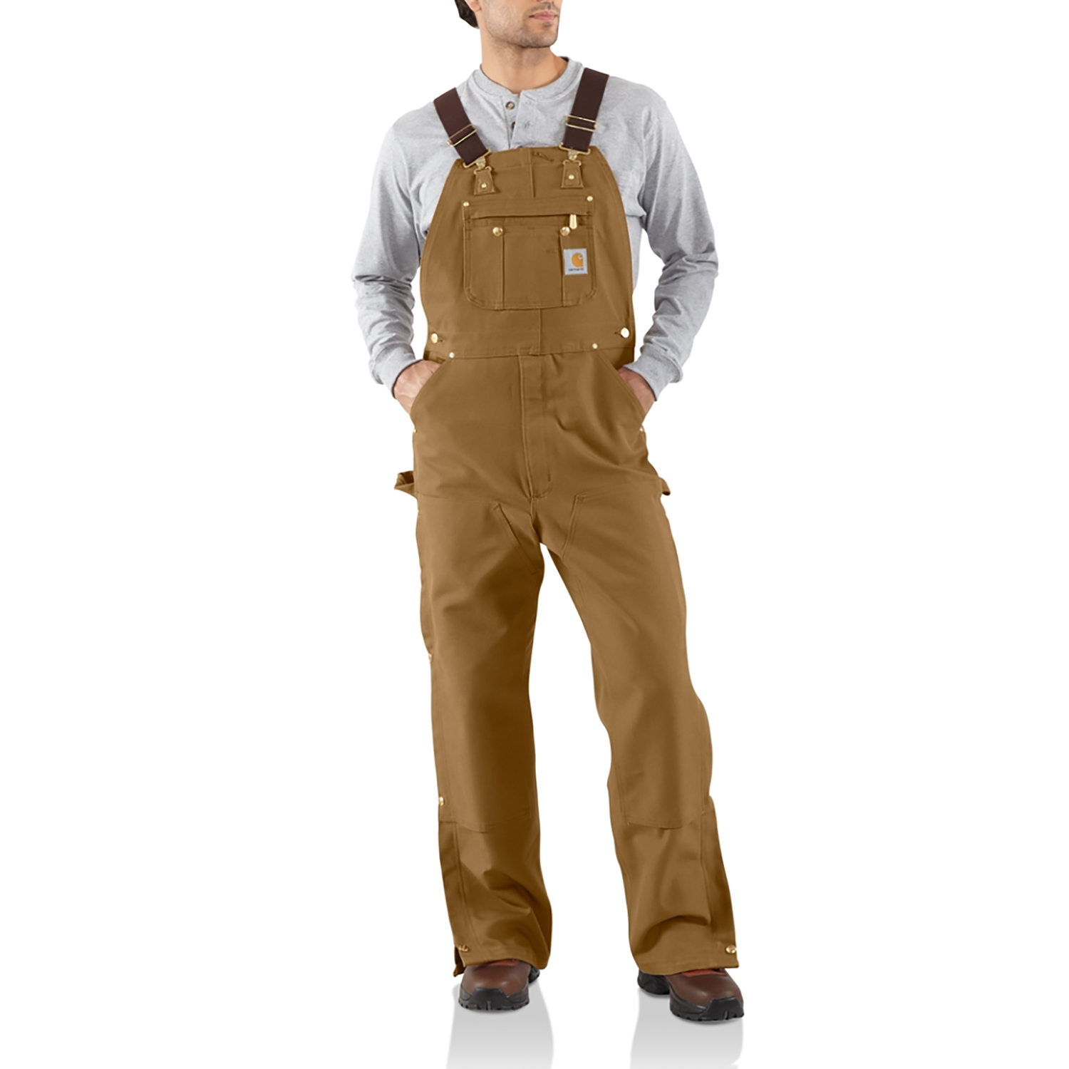 Carhartt Unlined Duck Zip to Thigh Bib Overall