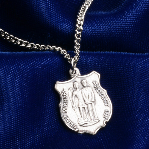 Blackinton st michael pendant with chain aloadofball Images