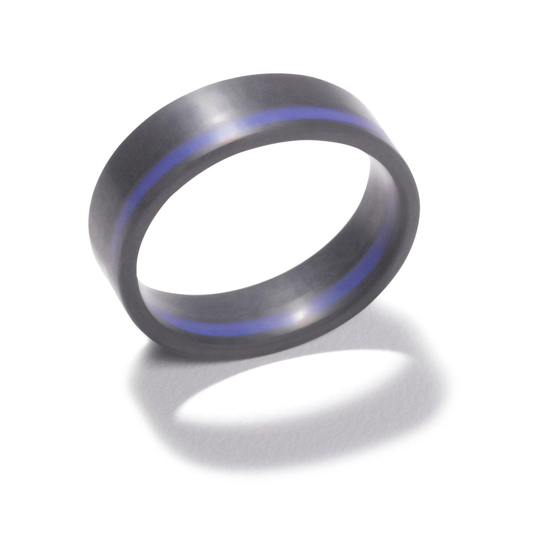 Qalo Mens Thin Line Ring