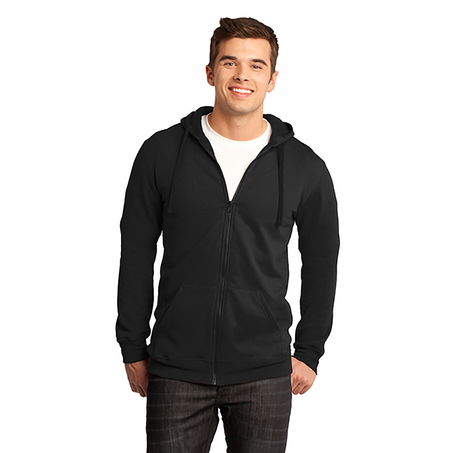 District Concert Fleece Full Zip Hoodie