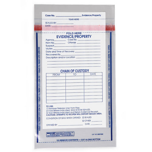 Sirchie Integrity Evidence Bags 10 1 2 Quot L X 7 1 2 Quot W