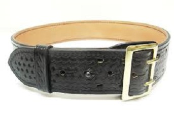 Tex Shoemaker Fully Lined Duty Belt with Brass Buckle