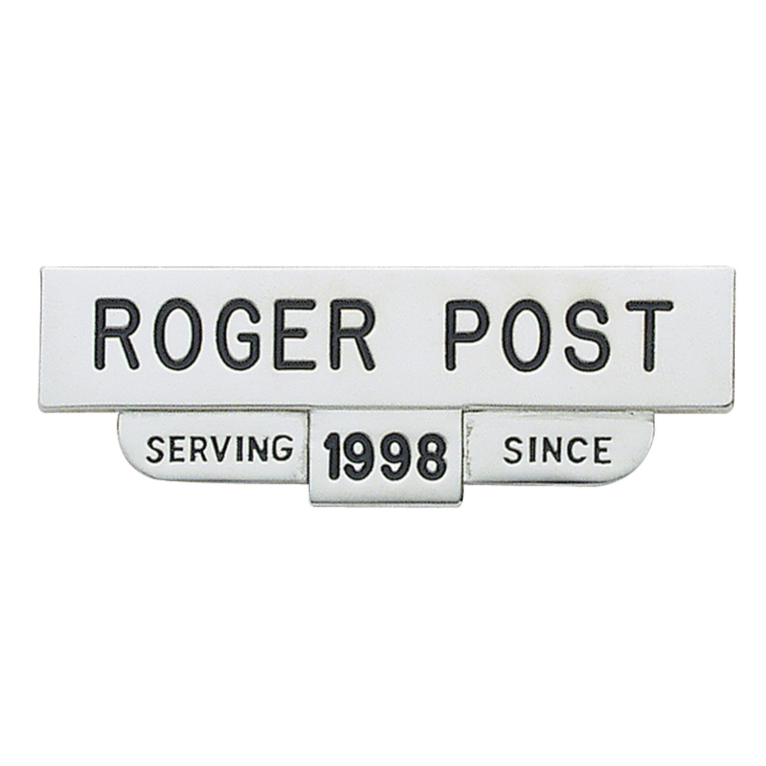 Smith & Warren One-Piece Nameplate