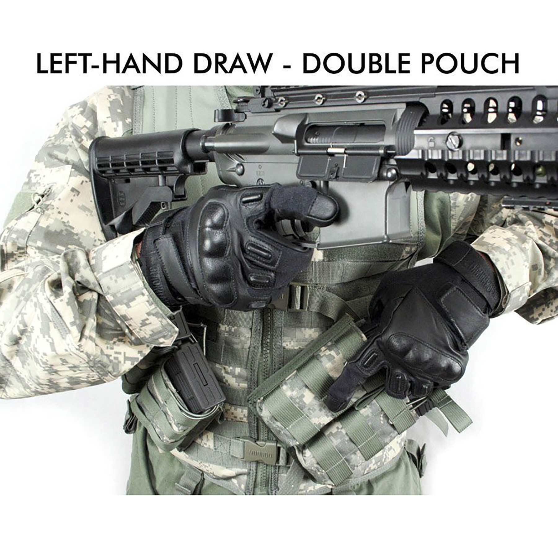 Canted 45 Degree Double Mag Pouch MADE IN THE USA (ACU)