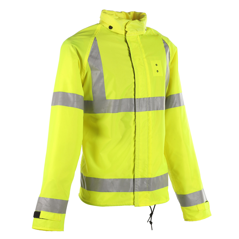 Neese ansi 3 police motorcycle rain jacket for Motor cycle rain gear