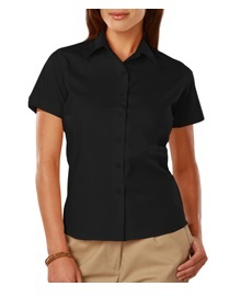 Blue Generation Easy Care Stretch Poplin Ladies Short Sleeve