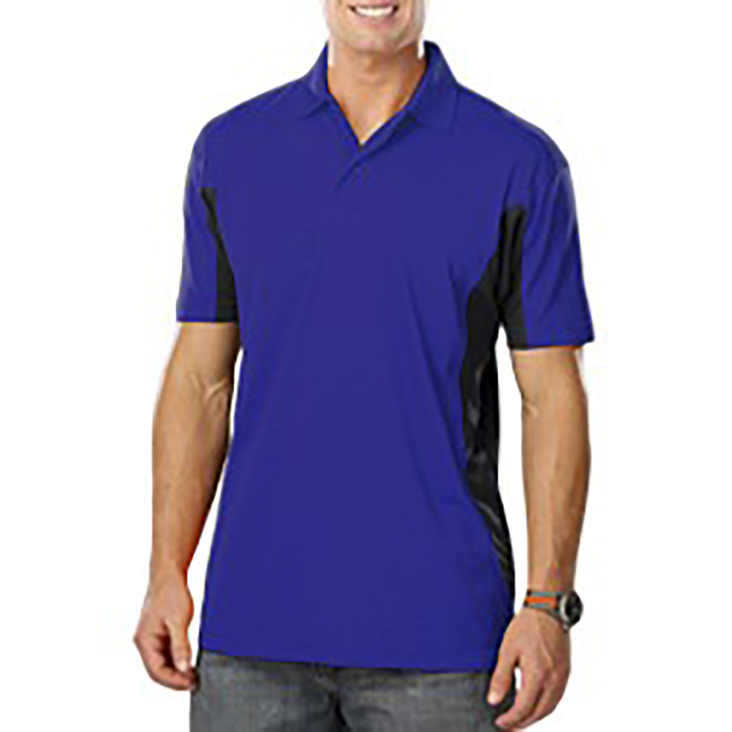 Blue Generation Men's Snag Resist Wicking Colorblock Polo