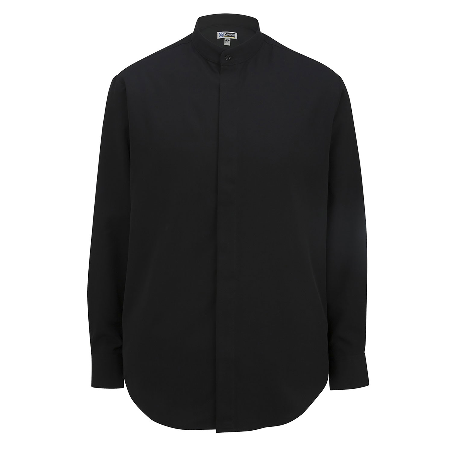 Edwards Mens Batiste Banded Collar Shirt