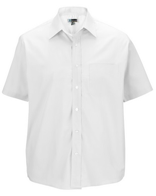 Edwards Men's Value Broadcloth Short Sleeve Shirt