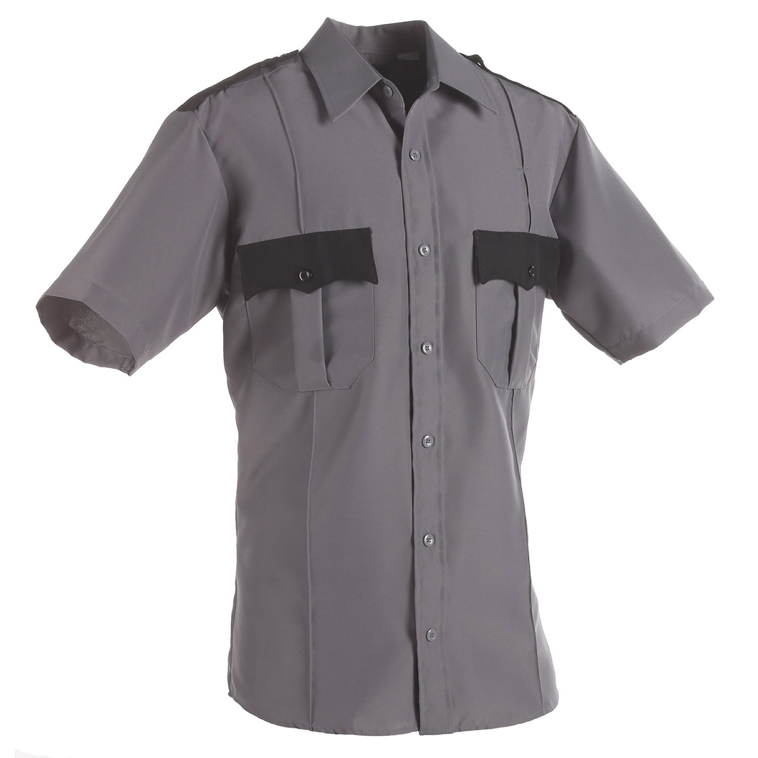 LawPro Two Tone Poly Cotton Short Sleeve Shirt