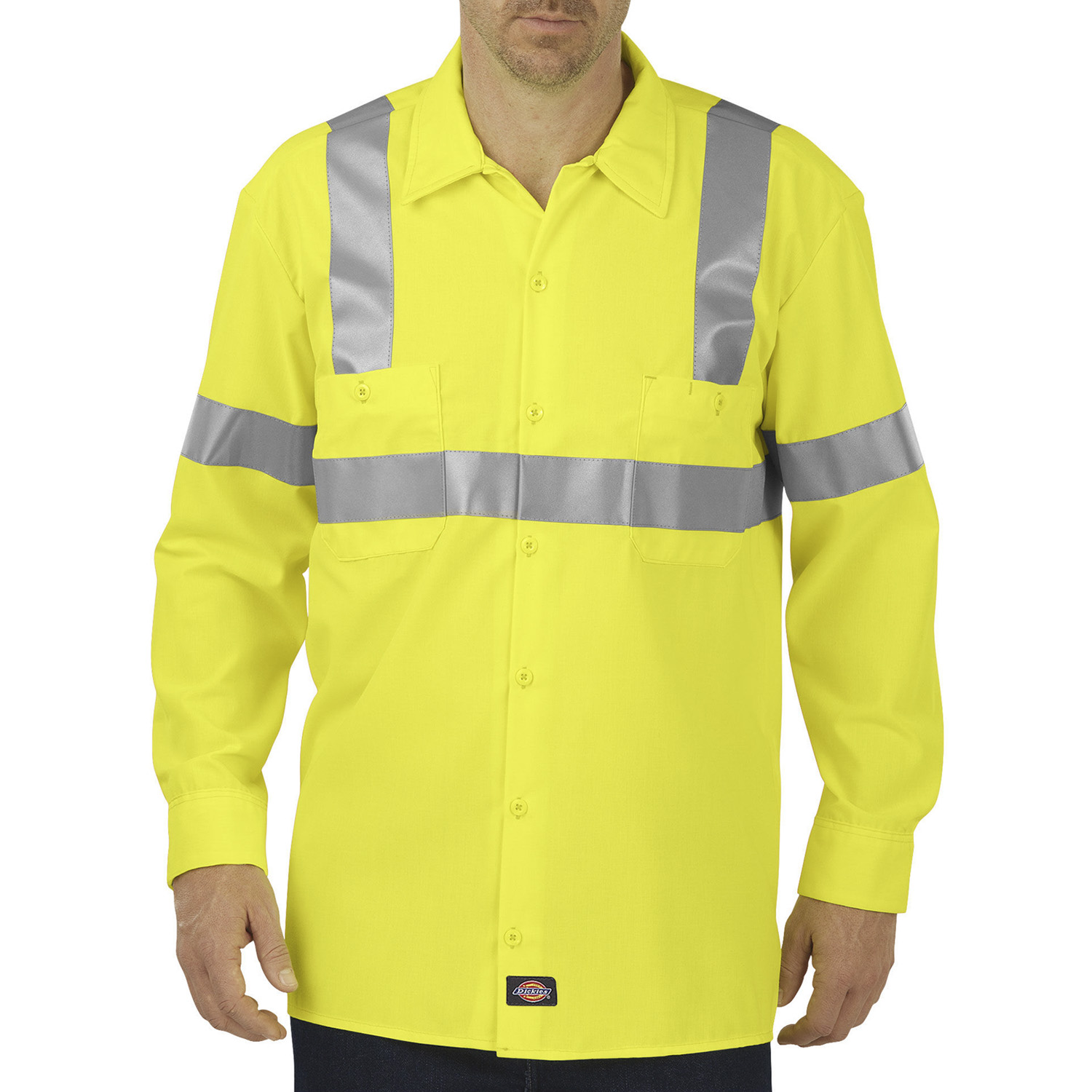 Dickies High Visibility ANSI Class 2 Long Sleeve Work Shirt