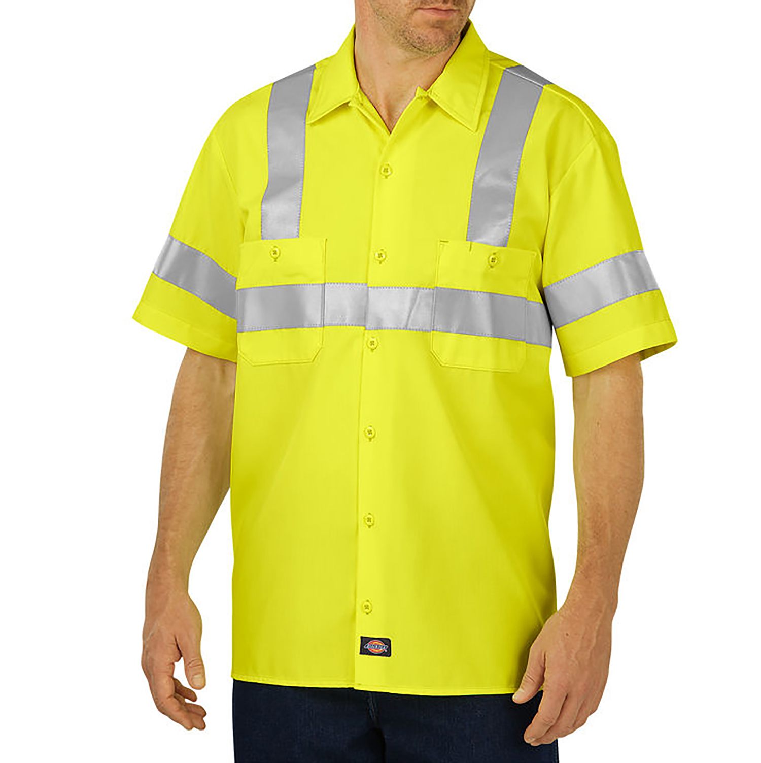 Dickies High Visibility ANSI Class 2 Short Sleeve Work Shirt