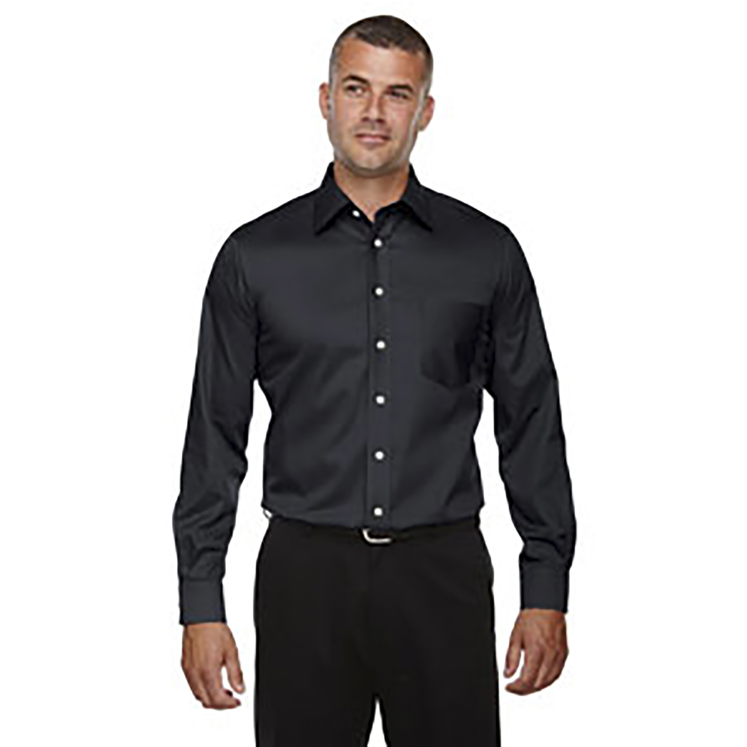 Devon & Jones Men's Crown Woven Collection Solid Stretch Twi