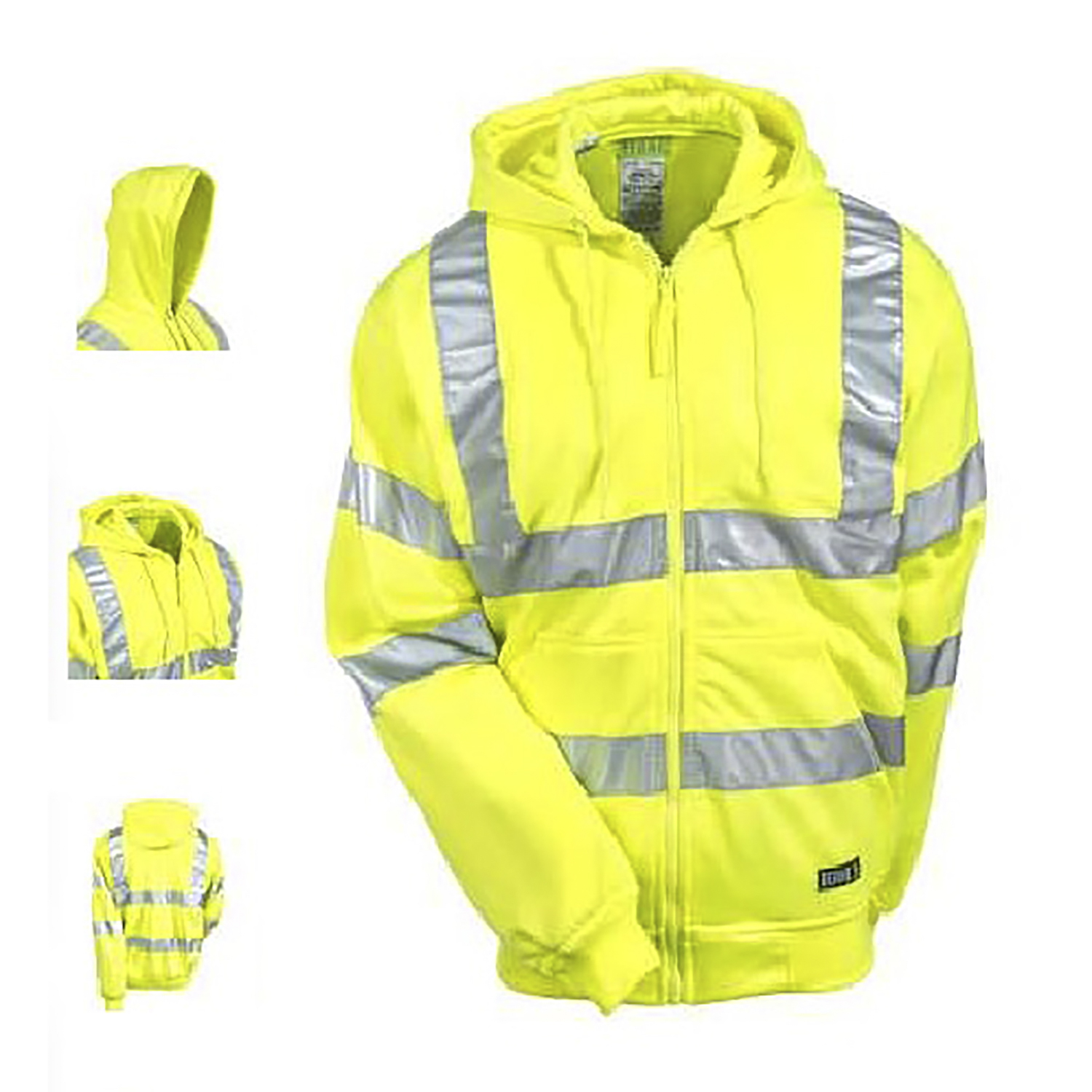 Berne High Visibility Yellow Hooded Sweatshirt