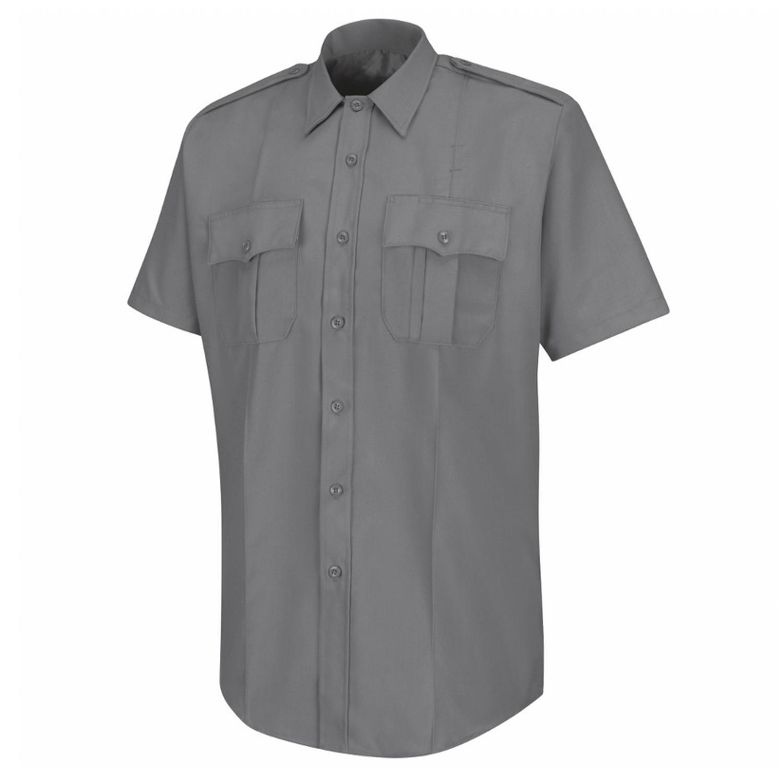 4696a799ddbf American Work Apparel Mens Grey Deputy Deluxe Short Sleeve U