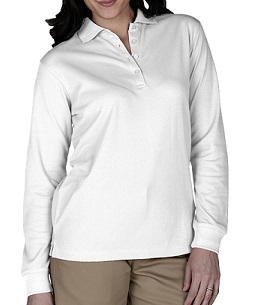 Edwards Ladies Pique Long Sleeve Polo