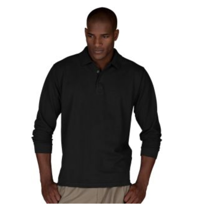 EDWARDS L/S PIQUE POLO