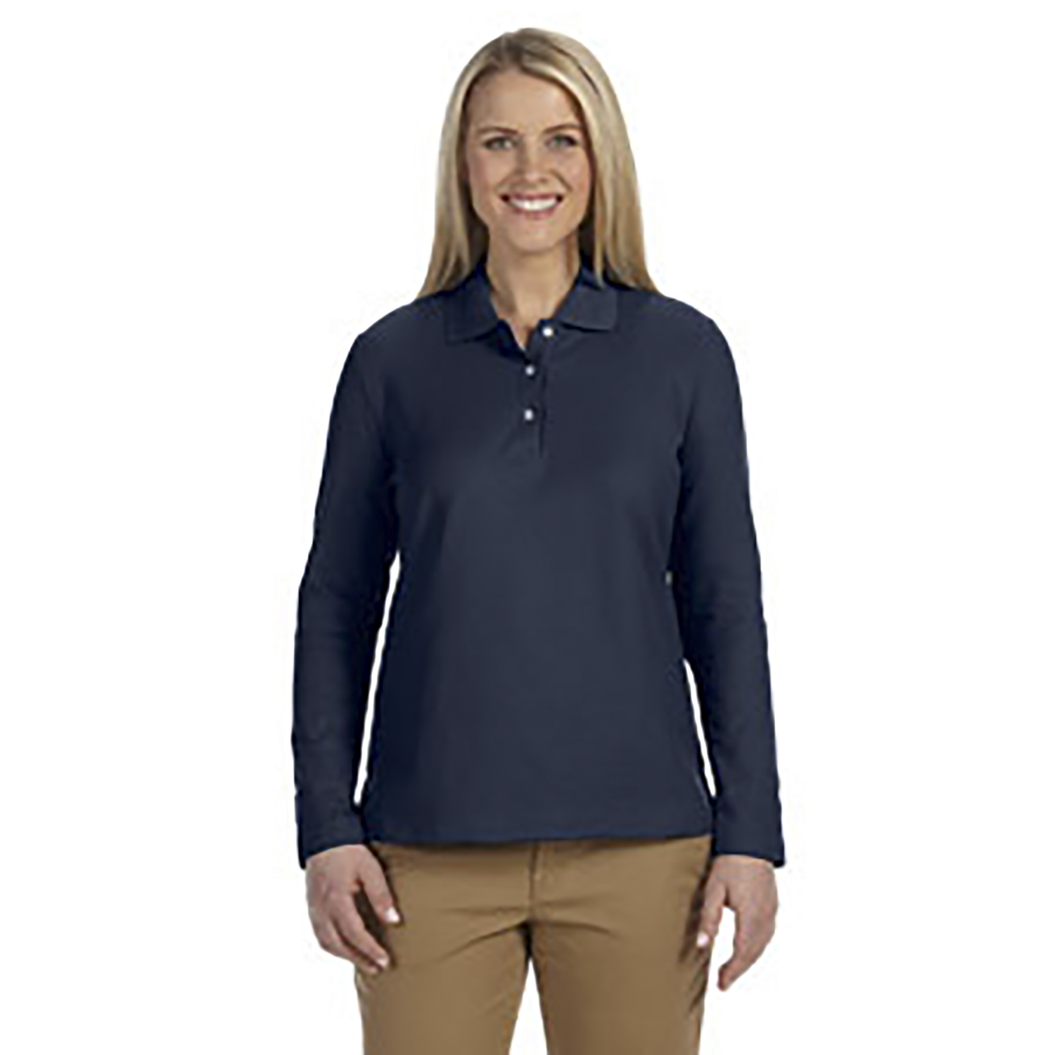 Devon & Jones Womens Pima Pique Polo