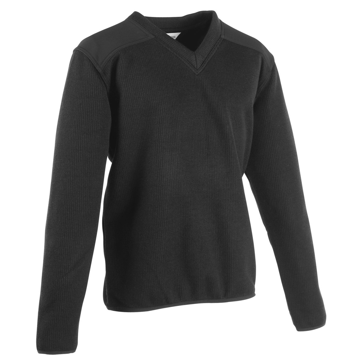 FLEECE LINED V-NECK COMMANDO SWEATER