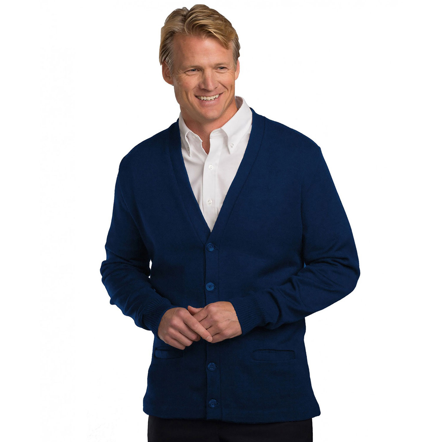A Plus Jersey Knit V-Neck Pocket Cardigan