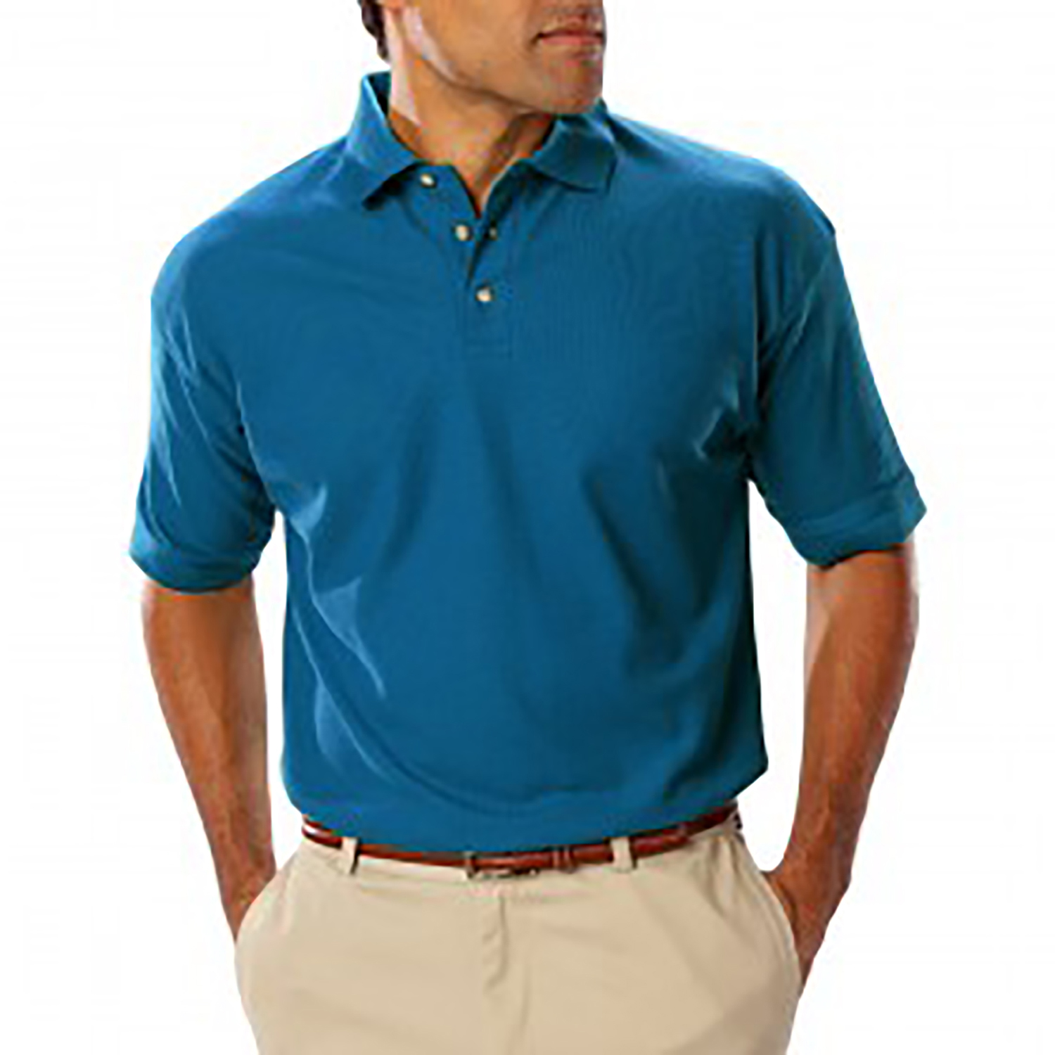Blue Generation Mens Teflon Treated Pique Without Pocket Pol