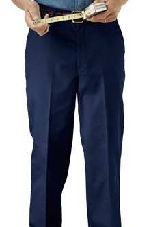 Edwards Mens Poly/Cotton Flat Front Trousers