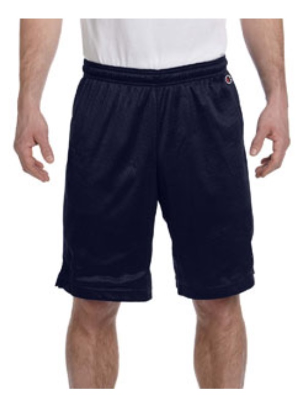 "CHAMPION POLY MESH SHORTS WITH 9"" INSEAM"