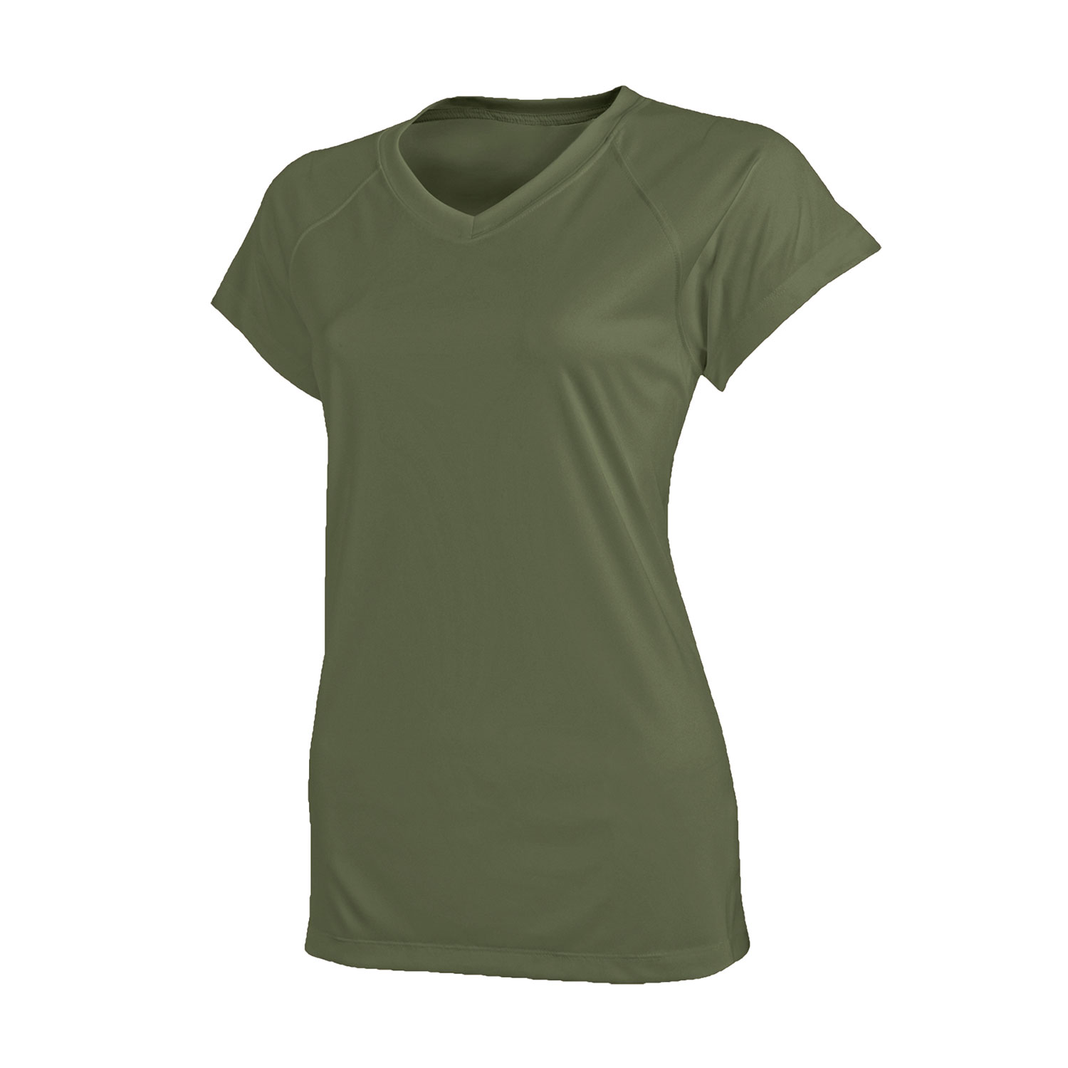 Champion Tactical Womens Essential Double Dry V Neck Tee