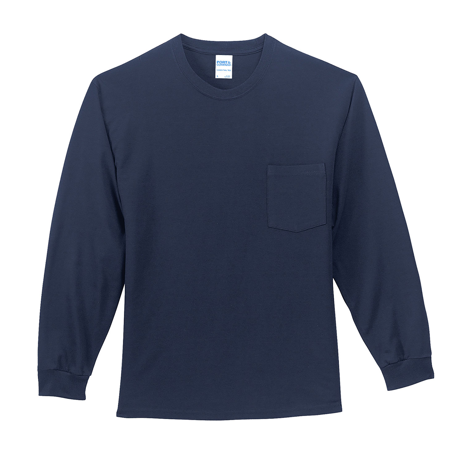 Port & Company Long Sleeve Essential Pocket Tee
